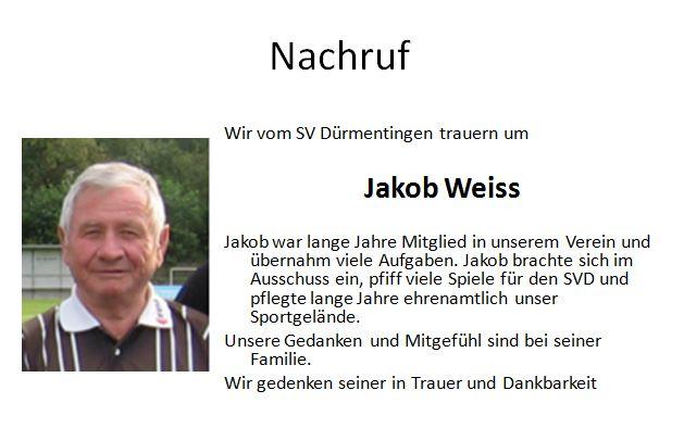 Nachruf Jakob Weiss