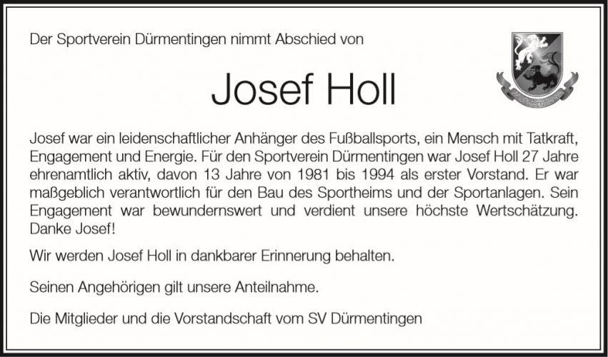 Der SV Dürmentingen nimmt Abschied von Josef Holl