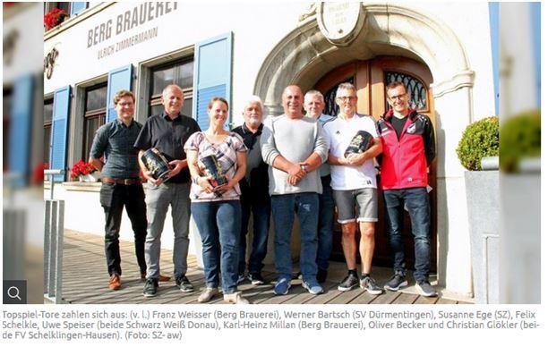 Berg Brauerei unterstützt Jugendarbeit vom SVD